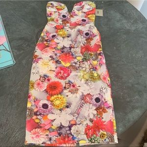 NWT ASOS Curve Plunge Pencil Dress